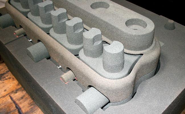 Velie engine block casting 3d printed sand mold