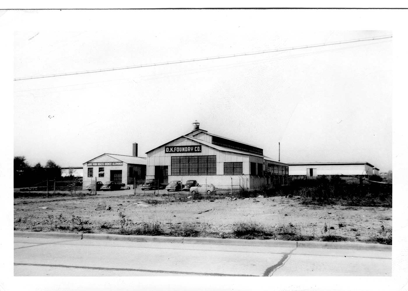 OK Foundry building in 1947.